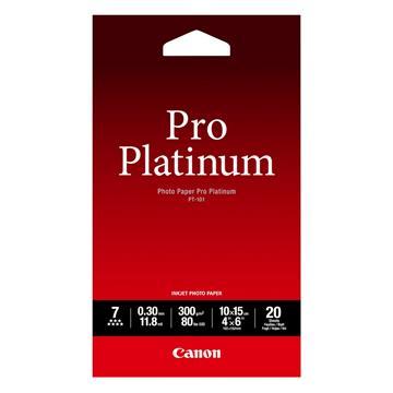 Εικόνα της Φωτογραφικό Χαρτί Canon Pro Platinum PT-101 A6 Glossy 300g/m² 20 Φύλλα 2768B013