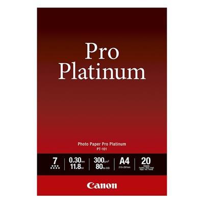 Εικόνα της Φωτογραφικό Χαρτί Canon Pro Platinum PT-101 A4 Glossy 300g/m² 20 Φύλλα 2768B016