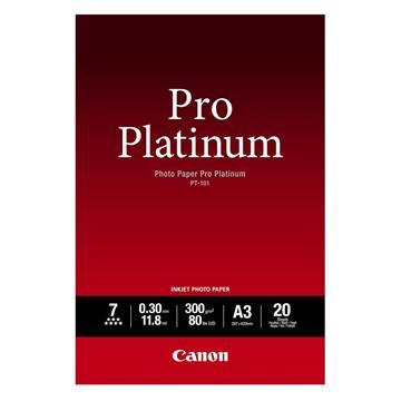 Εικόνα της Φωτογραφικό Χαρτί Canon Pro Platinum PT-101 A3 Glossy 300g/m² 20 Φύλλα 2768B017
