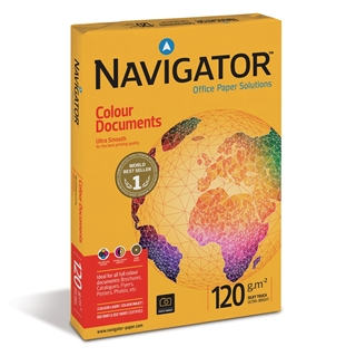 Εικόνα της Επαγγελματικό Χαρτί Εκτύπωσης Navigator (Colour Documents) Ultra Smooth A4 120gr 250 Φύλλα