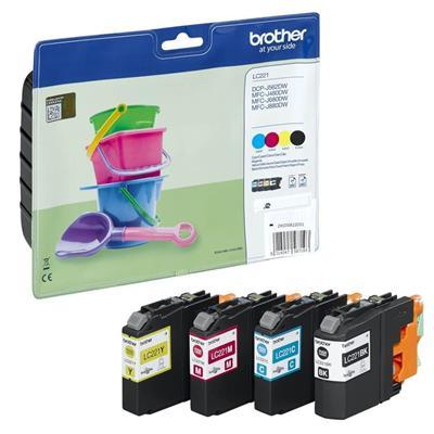 Εικόνα της Πακέτο 4 Χρωμάτων Brother LC-221VP