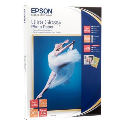 Εικόνα της Φωτογραφικό Χαρτί Epson 13 x 18 cm Ultra Glossy 300g/m² 50 Φύλλα C13S041944