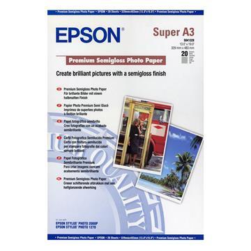 Εικόνα της Φωτογραφικό Χαρτί Epson A3+ Premium Semi Glossy 250g/m² 20 Φύλλα C13S041328