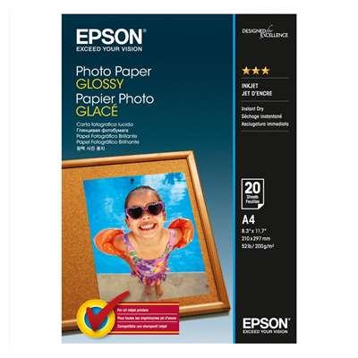 Εικόνα της Φωτογραφικό Χαρτί Epson A4 Glossy 200g/m² 20 Φύλλα C13S042538