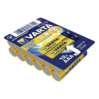 Εικόνα της Αλκαλικές Μπαταρίες AAA 1.5V Varta LongLife 12 Τεμ 4103