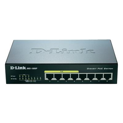 Εικόνα της Switch D-Link DGS-1008P 8-port 10/100/1000Mbps 4 PoE