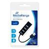 Εικόνα της USB Hub MediaRange 4-Port Usb 2.0 Black MRCS502