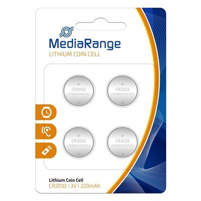 Εικόνα της Μπαταρίες Λιθίου MediaRange Coin Cells CR2032, 3V, 4 Pack MRBAT132