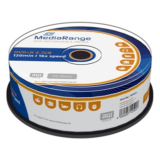 Εικόνα της DVD+R 4.7GB 120' 16x MediaRange Cake Box 25 Τεμ MR404