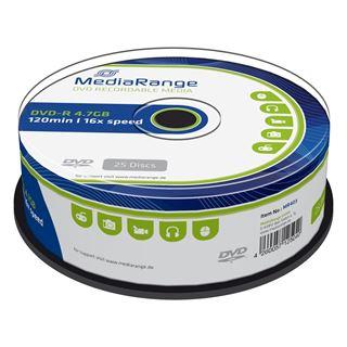 Εικόνα της DVD-R 4.7GB 120' 16x MediaRange Cake Box 25 Τεμ MR403