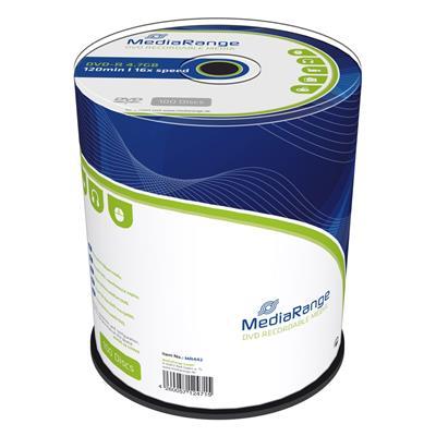 Εικόνα της DVD-R 4.7GB 120' 16x MediaRange Cake Box 100 Τεμ MR442