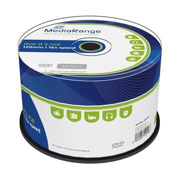 Εικόνα της DVD-R 4.7GB 120' 16x MediaRange Cake Box 50 Τεμ MR444