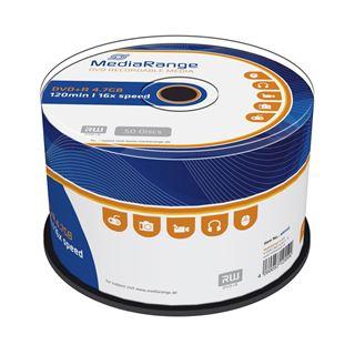 Εικόνα της DVD+R 4.7GB 120' 16x MediaRange Cake Box 50 Τεμ MR445