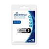 Εικόνα της MediaRange USB 2.0 Flash Drive 64GB Black/Silver MR912