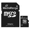 Εικόνα της Κάρτα Μνήμης MicroSDHC Class 10 MediaRange 32GB with SD Adapter MR959