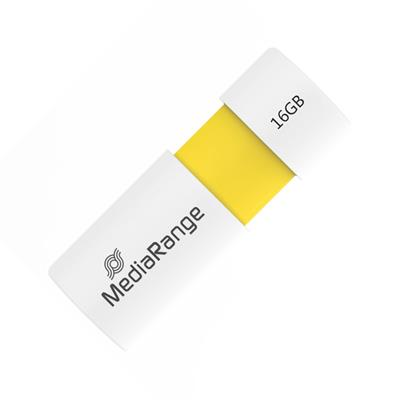 Εικόνα της MediaRange USB 2.0 Flash Drive 16GB White/Yellow MR972