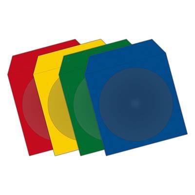 Εικόνα της MediaRange Χρωματιστά Χάρτινα Φακελάκια για 1 Δίσκο με Παράθυρο 100 Pack BOX67