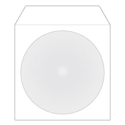 Εικόνα της MediaRange Χάρτινα Φακελάκια για 1 Δίσκο με Παράθυρο Λευκά 100 Pack BOX62