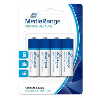 Εικόνα της Αλκαλικές Μπαταρίες MediaRange Premium AA, 1.5V, LR6, 4 Pack MRBAT104