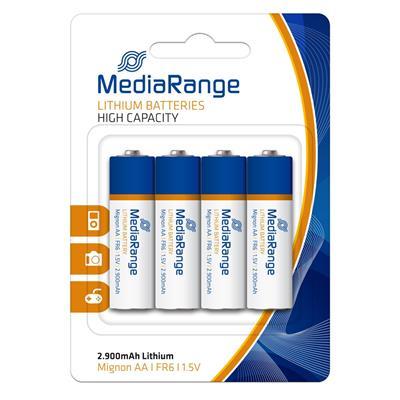 Εικόνα της Μπαταρίες Λιθίου MediaRange AA, FR6, 1.5V, 4 Pack MRBAT154