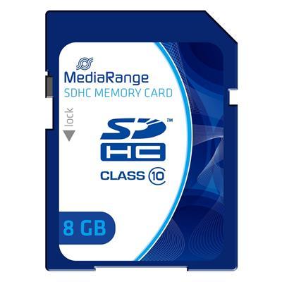 Εικόνα της Κάρτα Μνήμης SDHC Class 10 MediaRange 8GB MR962