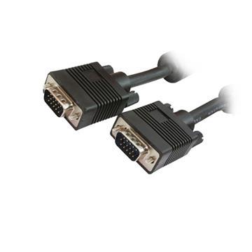 Εικόνα της Καλώδιο MediaRange SVGA Monitor VGA/VGA 20m Black MRCS117