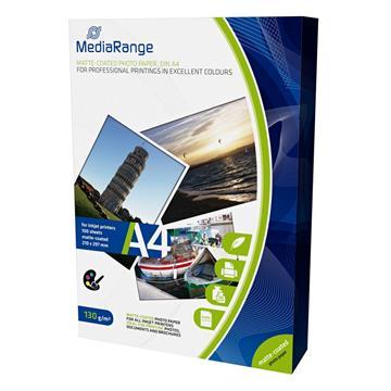 Εικόνα της Φωτογραφικό Χαρτί MediaRange A4 Matte 130g/m² 100 Φύλλα MRINK101