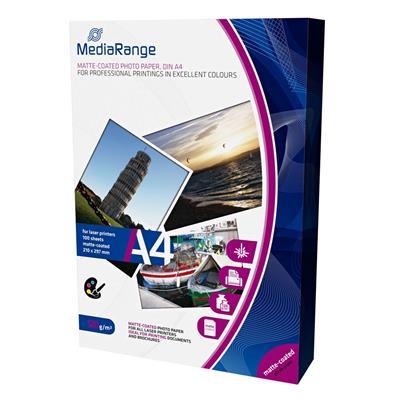 Εικόνα της Φωτογραφικό Χαρτί MediaRange Α4 Matte 120g/m² 100 Φύλλα MRINK106
