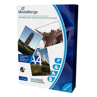 Εικόνα της Φωτογραφικό Χαρτί MediaRange Α4 High-Glossy 160g/m² 100 Φύλλα MRINK105