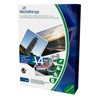 Εικόνα της Φωτογραφικό Χαρτί MediaRange A4 Dual-Side Matte 140g/m² 100 Φύλλα MRINK111
