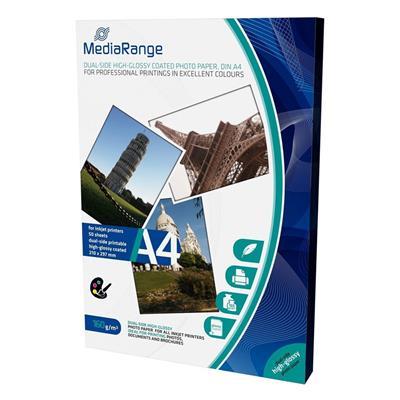 Εικόνα της Φωτογραφικό Χαρτί MediaRange Α4 Dual-Side High-Glossy 160g/m² 50 Φύλλα MRINK108