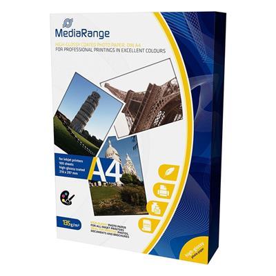 Εικόνα της Φωτογραφικό Χαρτί MediaRange Α4 High-Glossy 135g/m² 100 Φύλλα MRINK107