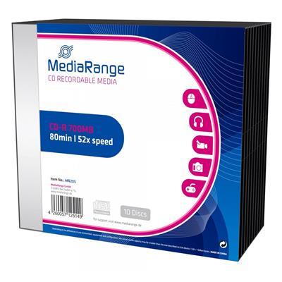 Εικόνα της CD-R 700MB 80' 52x MediaRange Slimcase 10 Τεμ MR205