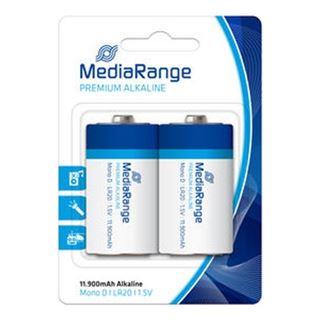 Εικόνα της Αλκαλικές Μπαταρίες MediaRange Premium D, 1.5V, LR20, 2 Pack MRBAT109