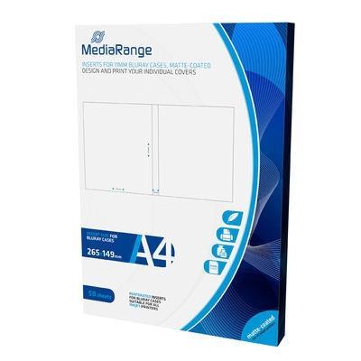 Εικόνα της MediaRange Inserts for 11mm Bluray Cases Matte 50 Pack MRINK123
