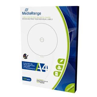 Εικόνα της MediaRange Labels for CD/DVD/BD 15-118mm Matte 100 Pack MRINK130
