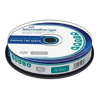 Εικόνα της DVD+R Dual Layer 8.5GB 240' 8x MediaRange Cake Box 10 Τεμ MR466