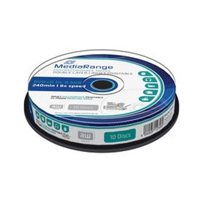 Εικόνα της DVD+R Dual Layer Printable 8.5GB 240' 8x MediaRange Cake Box 10 Τεμ MR468