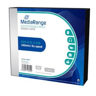 Εικόνα της DVD+R Dual Layer 8.5GB 240' 8x MediaRange Slimcase 5 Τεμ MR465