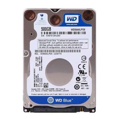 """Εικόνα της Εσωτερικός Σκληρός Δίσκος Western Digital Blue 500GB, 2.5"""", SATA ΙΙΙ, 16MB Cache, 5400rpm WD5000LPCX"""