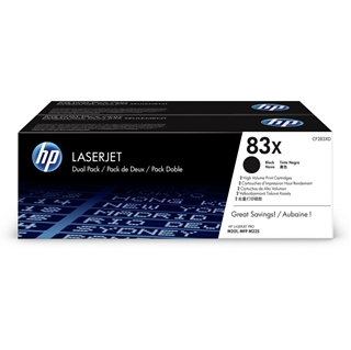 Εικόνα της Toner Dual Pack HP No 83X Black HC CF283XD