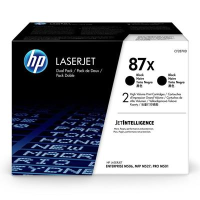 Εικόνα της Toner Dual Pack HP No 87X Black HC CF287XD