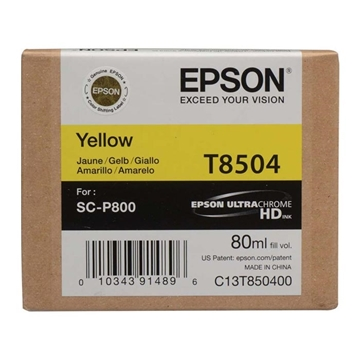 Εικόνα της Μελάνι Epson T8504 Yellow C13T850400