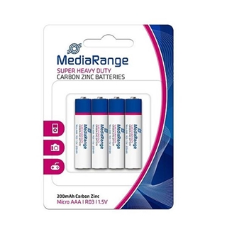Εικόνα της Μπαταρίες MediaRange Super Heavy Duty AAA, 1.5V, LR3, 4 Pack MRBAT141