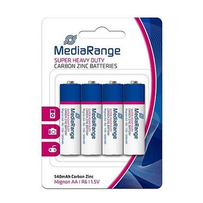 Εικόνα της Μπαταρίες MediaRange Super Heavy Duty AA, 1.5V, LR6, 4 Pack MRBAT144