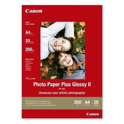 Εικόνα της Φωτογραφικό Χαρτί Canon PP-201 A4 Glossy 265g/m² 20 Φύλλα 2311B019