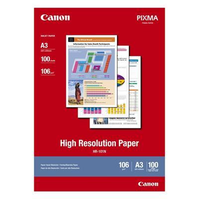 Εικόνα της Φωτογραφικό Χαρτί Canon HR-101N A3 High Resolution 106g/m² 100 Φύλλα 1033A005