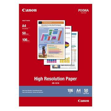 Εικόνα της Φωτογραφικό Χαρτί Canon HR-101N A4 High Resolution 106g/m² 50 Φύλλα 1033A002