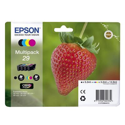 Εικόνα της Πακέτο 4 Μελανιών Epson T2986 Black, Cyan, Magenta και Yellow C13T29864010