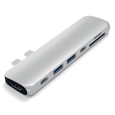 Εικόνα της Satechi Type-C Pro Hub 4K 2018 Macbook Pro 15'' & 13'' Silver ST-CMBPS